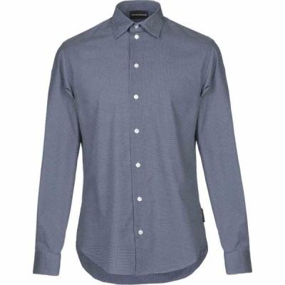 アルマーニ EMPORIO ARMANI メンズ シャツ トップス solid color shirt Blue