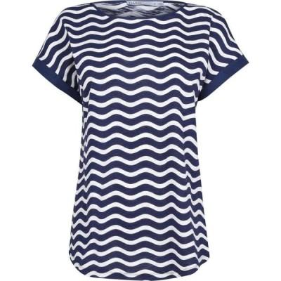 オアシス Oasis レディース Tシャツ トップス Wave Stripe Tee Multi Blue