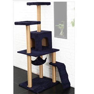 猫の木、猫の家とハンモック床の猫の塔の活動センター猫スクラッチボードと(新古未使用品)