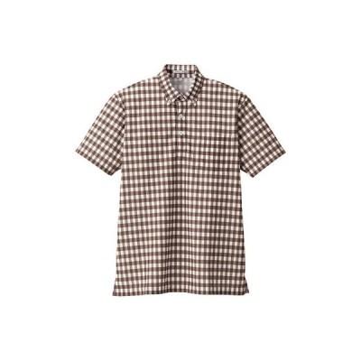 ボンマックス チェックプリントポロシャツ(半袖) 男女兼用 ブラウン 3L FB4523U(直送品)