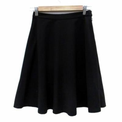 【中古】コラージュ ガリャルダガランテ COLLAGE GALLARDAGALANTE スカート フレア ひざ丈 1 黒 ブラック レディース