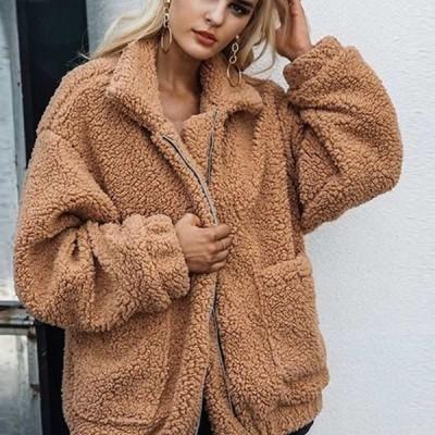 ブルゾン ファージャケット ボアジャケット ジャンパー 大きいサイズ もこもこ 厚手 暖かい アウター 秋冬 【 送料無料 】