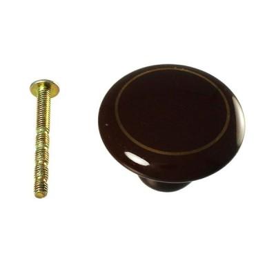 ハイロジック ツマミ/T-871 101BRG 茶/38mm