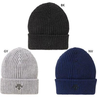 デサント メンズ レディース ジュニア ワンポイントニットキャップ 帽子 ニット帽 DMAQJC62