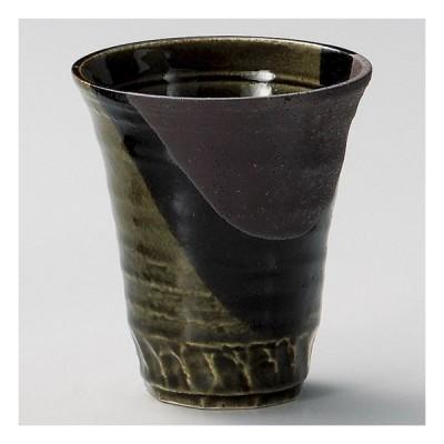 塗分織部ゴブレット 大 和食器 フリーカップ 業務用 約9.8×11cm 和バル 喫茶店 アイスコーヒー 居酒屋