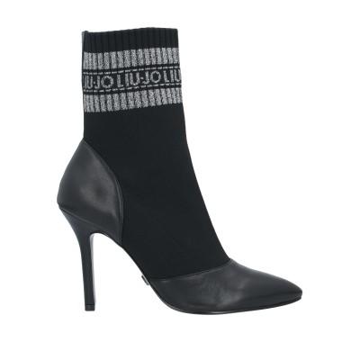 リュー ジョー LIU •JO ショートブーツ ブラック 36 革 / 紡績繊維 ショートブーツ