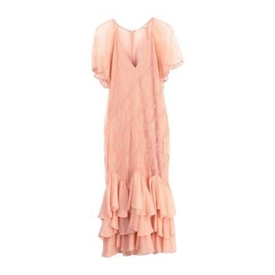 STEVIE MAY 7分丈ワンピース・ドレス サーモンピンク S ナイロン 100% 7分丈ワンピース・ドレス