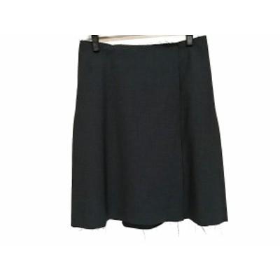 ジルサンダー JILSANDER スカート サイズ34 XS レディース 美品 黒 ダメージ加工【中古】20201211