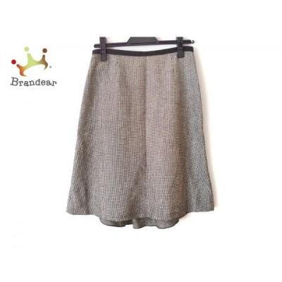 エストネーション ESTNATION スカート サイズ36 S レディース 美品 黒×白 フリル   スペシャル特価 20200318