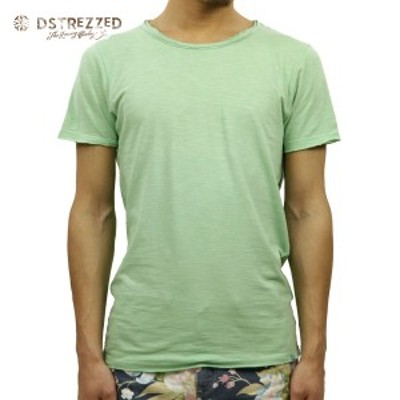ディストレス Tシャツ 正規販売店 DSTREZZED 半袖Tシャツ  R-neck s/s Slub Jersey 202175 17