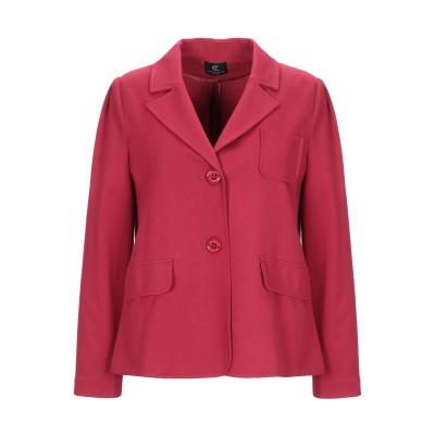 CRISTINAEFFE テーラードジャケット レッド 40 レーヨン 70% / ナイロン 25% / ポリウレタン 5% テーラードジャケット
