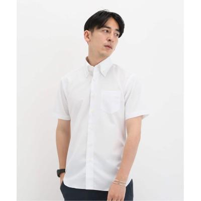 メンズ エディフィス イージーアイロン ハンソデボタンダウンシャツ ホワイト 39