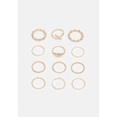 ピーシーズ リング レディース アクセサリー PCARIEL 12 PACK  - Ring - gold-coloured