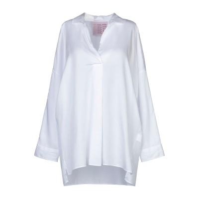 CALIBAN 820 ブラウス ホワイト 44 指定外繊維(テンセル)® 100% ブラウス