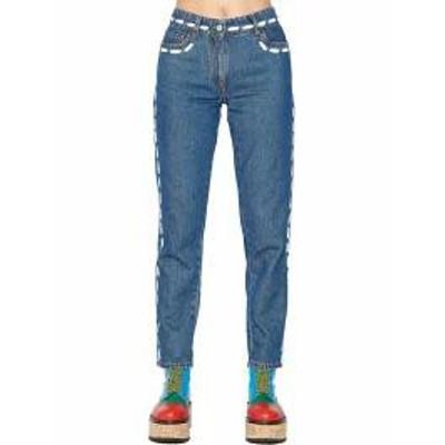 Moschino レディースパンツ Moschino stitching Jeans Blue