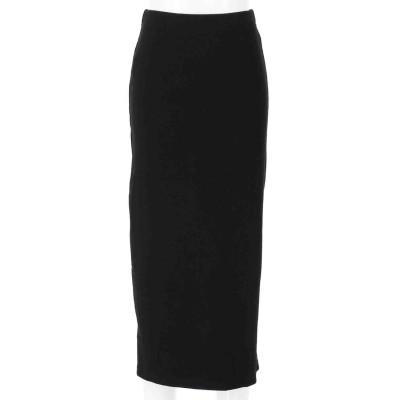 LATINA リブバックスリットナロースカート(ブラック)
