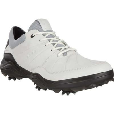 エコー スニーカー シューズ メンズ Strike HYDROMAX Water-Resistant Spiked Golf Shoe (Men's) White Leather