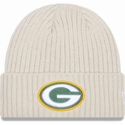 ニューエラ New Era メンズ ニット ビーニー 帽子 Green Bay Packers Core Cuffed Knit White Beanie