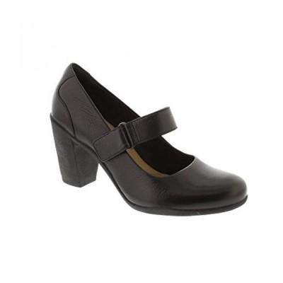 クラークス レディース ブーツ Clarks Adya Clara - Black Leather Womens Heels