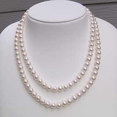 2連ネックレス 真珠ネックレス パールネックレス あこや本真珠 7-7.5mm パール ネックレス 2連無料ラッピング 送料無料 レディース 冠婚