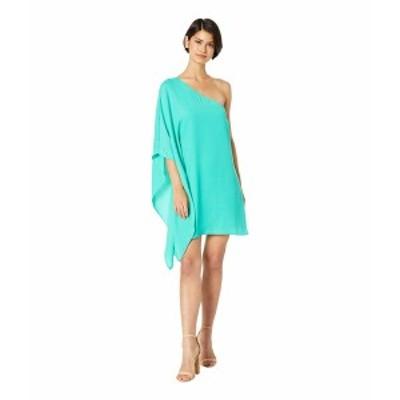 カップケーキアンドカシミア レディース ワンピース トップス Deliz Crepe One Shoulder Cape Sleeve Dress Leaf Green