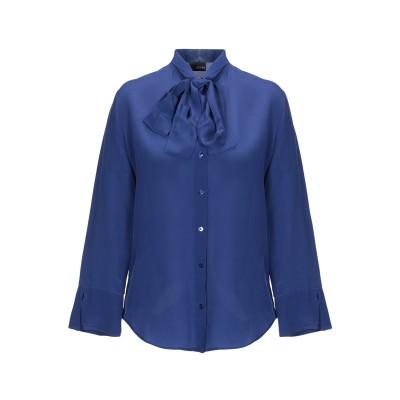 EUROPEAN CULTURE シャツ ブルー S シルク 100% シャツ