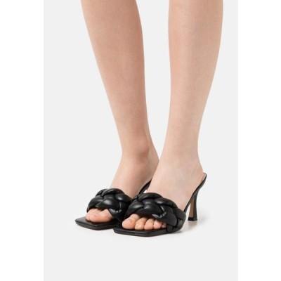 レディース 靴 シューズ WIDE FIT SANDRA - Heeled mules - black