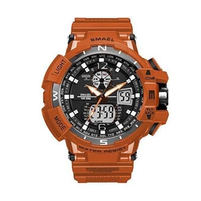 腕時計 メンズ SMAEL腕時計 メンズウォッチ 防水 スポーツウォッチ アナログ表示 デジタル 多機能 ミリタリー ラ