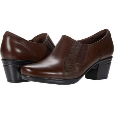 クラークス Clarks レディース シューズ・靴 Emslie Chelsea Dark Brown Leather/Synthetic