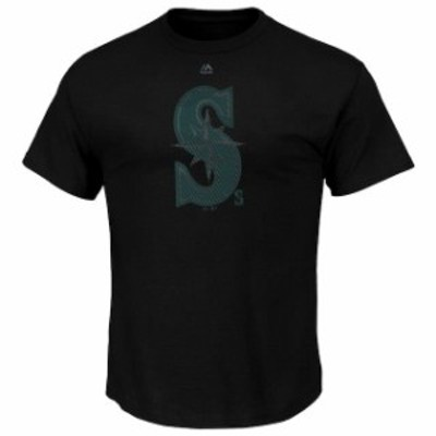 Majestic マジェスティック スポーツ用品  Majestic Seattle Mariners Black Big & Tall Superior Play T-Shirt
