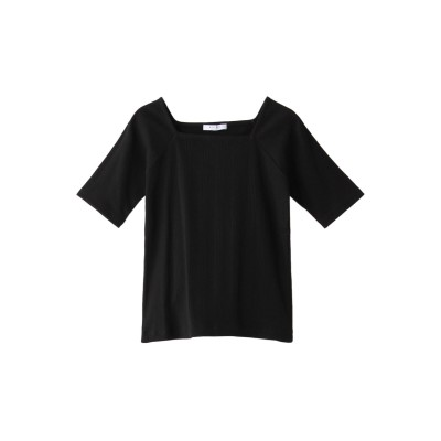 ROSE BUD ローズバッド ベーシックリブTシャツ レディース ブラック F
