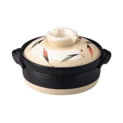 三陶 萬古焼 土鍋 ホワイト 6号 13980 IH対応 1人用 唐辛子