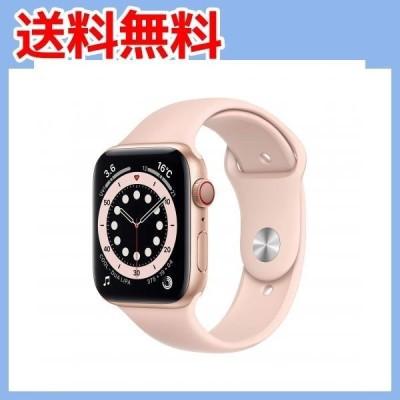最新 Apple?Watch Series 6(GPS + Cellularモデル)- 44mmゴールドアルミニウムケー・・・