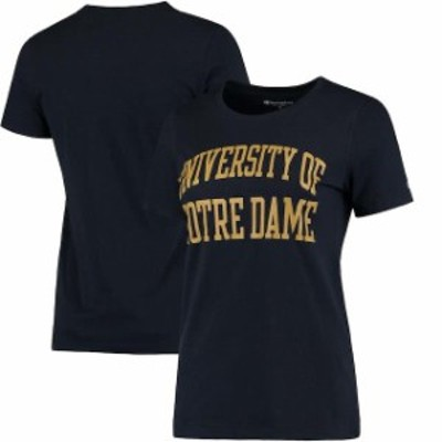Champion チャンピオン スポーツ用品  Champion Notre Dame Fighting Irish Womens Navy University T-Shirt