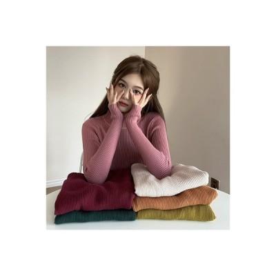 【送料無料】年 秋冬 何でも似合う 単一色 ハング条 着やせ 着やせ 西洋風 ニット | 346770_A64289-5067318