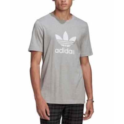 アディダス メンズ Tシャツ トップス Men's Trefoil T-Shirt Medium Grey Heather