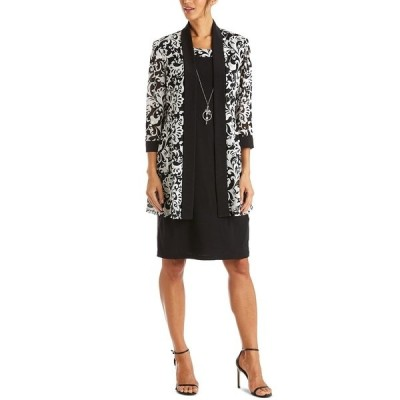 アールアンドエムリチャーズ ワンピース トップス レディース Dress & Printed Jacket Black White