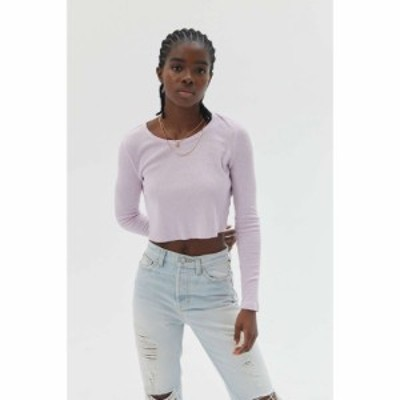 ビーディージー BDG レディース ベアトップ・チューブトップ・クロップド トップス Girlfriend Long Sleeve Cropped Top Lilac