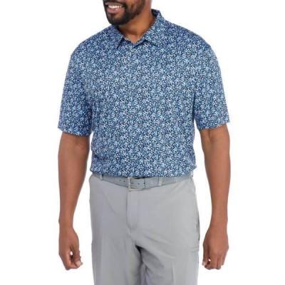 プロツアー シャツ トップス メンズ Big & Tall Short Sleeve Dogwood Printed Polo -