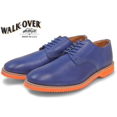 訳あり品 ウォークオーバー チェイス WALKOVER CHASE オックスフォード R02904 男性用 ブルー×オレンジ 26.5cm US8.5 wa011
