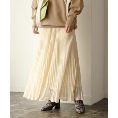 ADAM ET ROPE' / シアーニットプリーツスカート WOMEN スカート > スカート