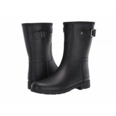 HUNTER ハンター レディース 女性用 シューズ 靴 ブーツ レインブーツ Original Refined Short Rain Boots Black【送料無料】