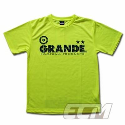"GRANDE ドライメッシュTシャツ ""MONOGRAM"" 蛍光イエロー【グランデ/サッカー/フットサル/サポーター】◆ネコポス対応可能◆"