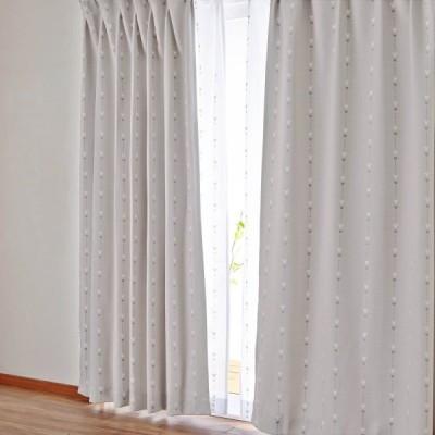 カーテンセット カーテン 安い おしゃれ ディズニー ベル 遮光 洗える ベージュ 約100×90 4枚 約100×110 4枚