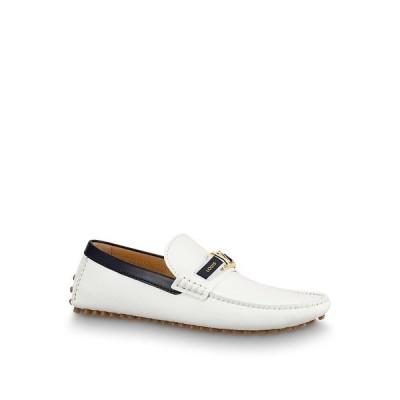 ルイヴィトン LOUIS VUITTON ローファー シューズ 靴 ブロン ホワイト グレイン カーフレザー
