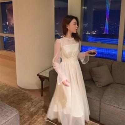 パーティードレス 結婚式 お呼ばれドレス 20代 30代 40代 袖あり 結婚式ワンピース ロングドレス 結婚式お呼ばれドレス