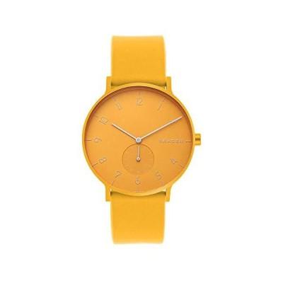 Skagen Aaren カラーシリコンクォーツ ミニマリスティック 41mm 腕時計 One Size イエロー