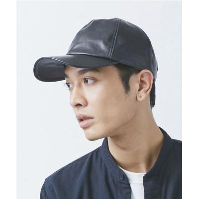 【オーバーライド】 OVERRIDE LEATHER 6P CAP メンズ ブラック 57cm~59cm(98) OVERRIDE