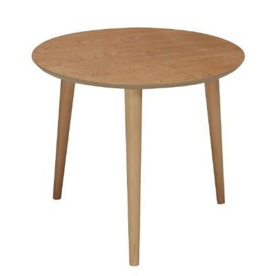 永井興産 木製ラウンドテーブル NA(ナチュラル)幅500×奥行500×高さ425mm NK-315 1台(直送品)