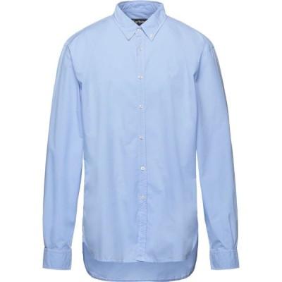 バブアー BARBOUR メンズ シャツ トップス solid color shirt Sky blue